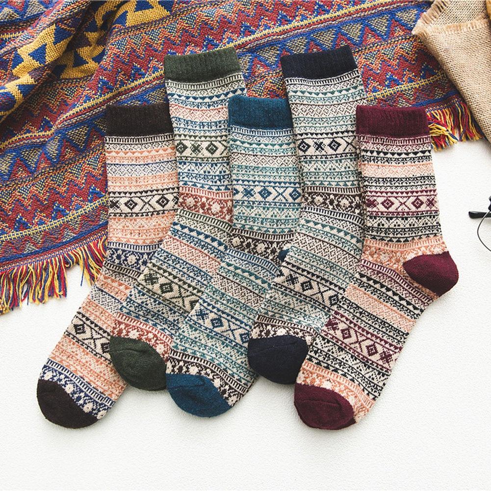 2020 рождественские носки зимние шерстяные мужские носки полосатые толстые теплые носки удобные повседневные носки Модные мужские носки