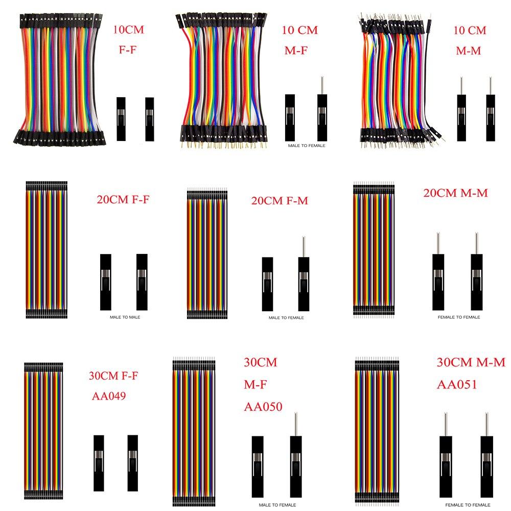 Dupont Line 10 cm/20 CM/30 CM/40 CM macho a macho/hembra a macho o hembra a hembra Jumper Wire Dupont Cable para arduino DIY KIT