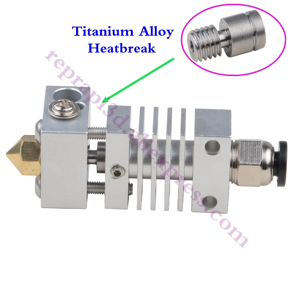 Micro Swiss Cloned All Metal Hotend Kit /300C Flexible Friendly CR10 w/ Titanium Thermal Heat break F/ Creality CR-10 3D Printer