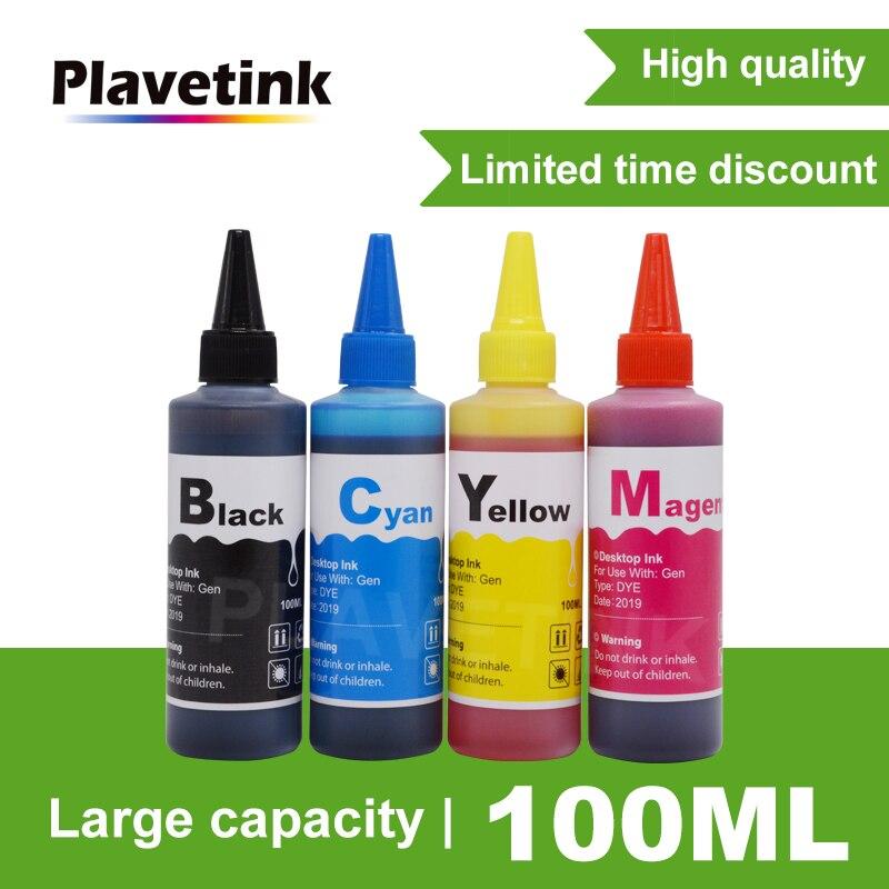 Plavetink 100 ml Garrafa 4 Cor Kit de Recarga de Impressora de Tinta Corante Para HP 655 XL Deskjet 3525 4615 4625 5525 6520 Cartuchos Recarregáveis