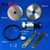 FitSain – Mini scie de table à broche XL 10T 20T poulie en alliage d'aluminium 1: 2 pour trous de lame de scie 16mm/20mm