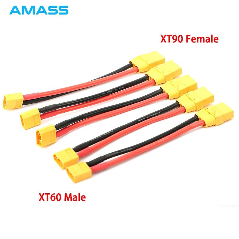 Amass XT90 giro hembra XT60 macho Bullet conector anti chispa para RC DIY FPV Quadcopter motor sin escobillas