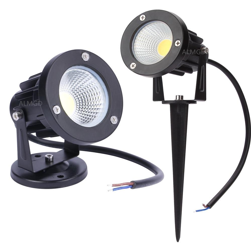 New Style COB Garden Lawn Light 220V 110V 12V Outdoor LED Spike Lamp Bulbs 3W 5W 7W 9W Path Landscap