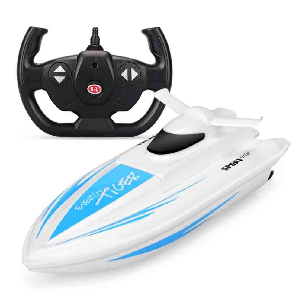 Juguetes de carreras de agua Barco de Control remoto electricidad velocidad barco modelo piscina lago juego de carreras de agua juguetes para niños regalos de cumpleaños