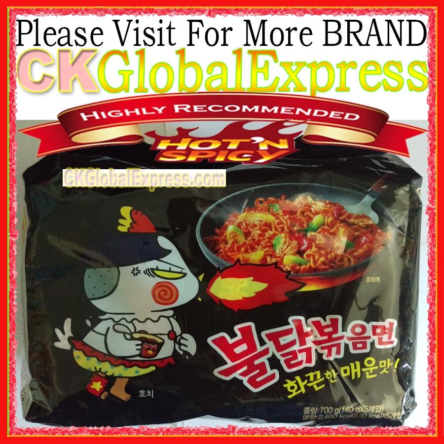 [Лидер продаж Марка в Корее] для SAM Ян куриный рамен 1 упак. 5 шт. корейский вкус немедленная лапша Горячая и пряный (очень рекомендую