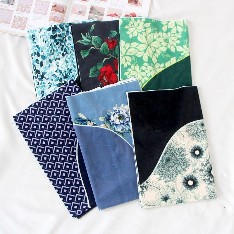 40*60 cm flor de veludo Ouro diy saco de pano para costura craft material padrão de tecido estofos em tecido tissu têxtil patchwork novo