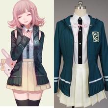 Super DanganRonpa Cosplay Chiaki Nanami  Costume Japanese Anime Costume by Custom-made Full Set school uniform for party