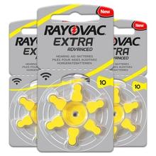 30 PCS / 5 card RAYOVAC EXTRA Zinc Air 1.45V Performance Hearing Aid Batteries A10 10A 10 PR70 Heari