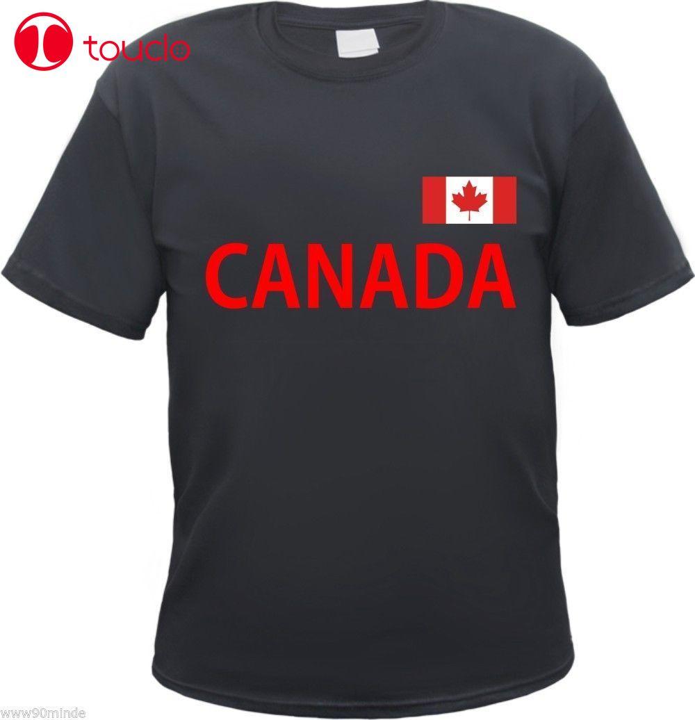 Camiseta de Canadá-negro/rojo-presión de la bandera-S a 3Xl-Sudadera de América de Ottawa de Canadá