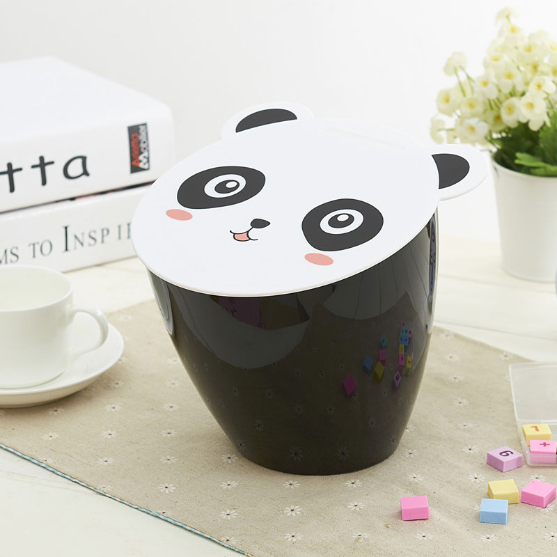 Lovely Panda And Pig Design Small Waste Bin Desktop Garbage Basket Animal Sundries Barrel Storage Mini trash DL8