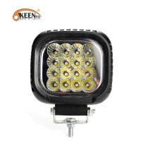 OKEEN 4.8 inch 48W Spot Flood LED Bar LED Work Light Bar for Driving Offroad Boat Car Tractor Jeep Truck 4x4 SUV ATV 12V 24V