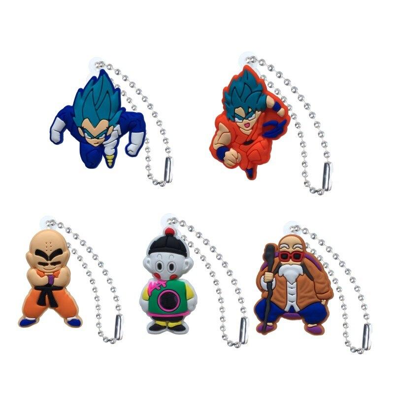 20 stücke Action-figuren Anime Ball Kette Keychain Schlüssel Zubehör Abdeckung Kappe Schlüssel Ring Kinder DIY Spielzeug Party Geschenk