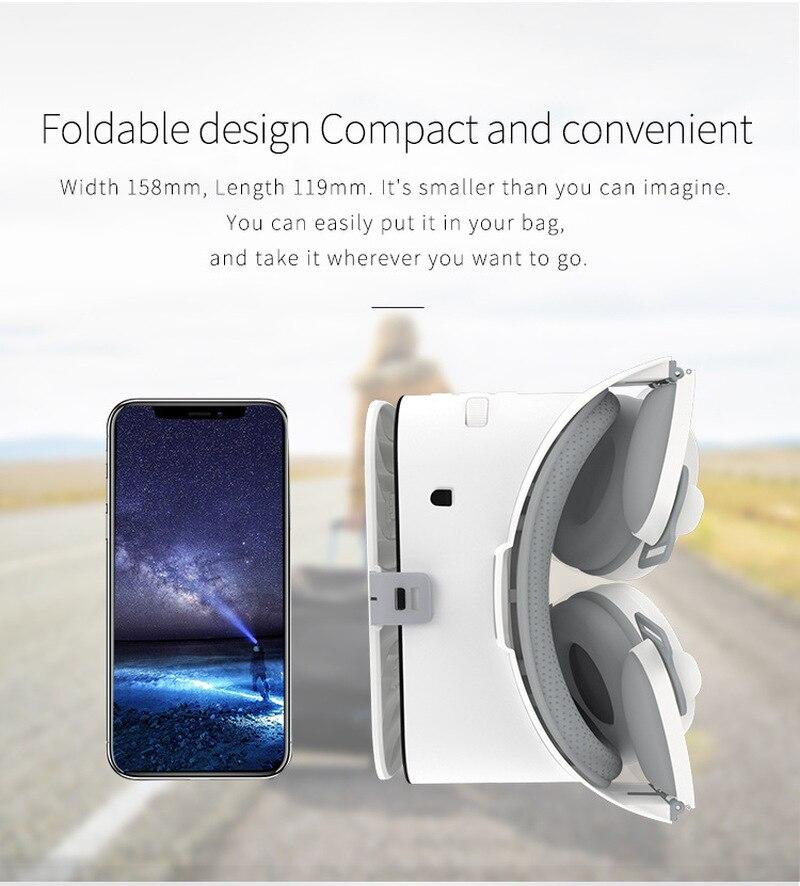 Bobovr z6 vr 3d óculos de realidade virtual mini capacete de papelão vr óculos headsets bobo vr para filmes de 4-6 polegadas do telefone móvel dvd