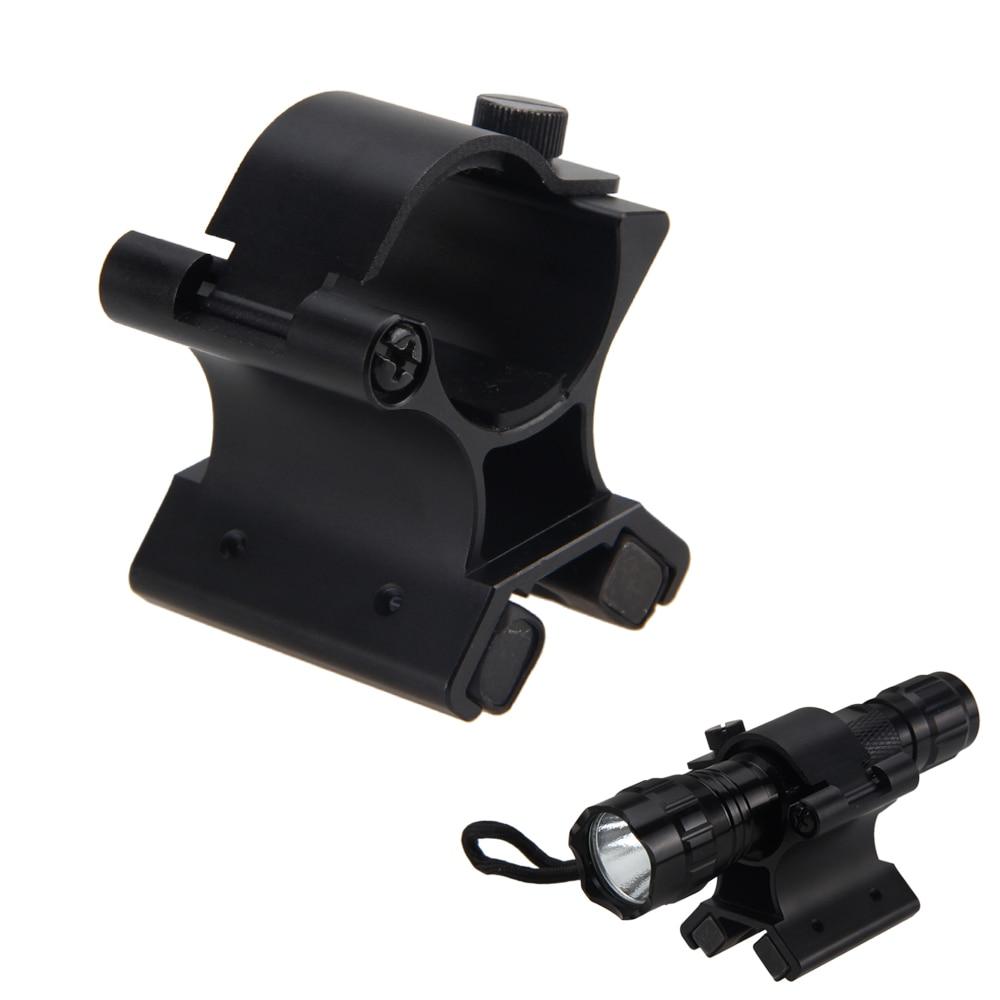 X-WM02 27-30mm fuerte doble magnético X táctico soporte de montaje DIY soporte para pistola de luz táctica caza linterna Clip accesorio