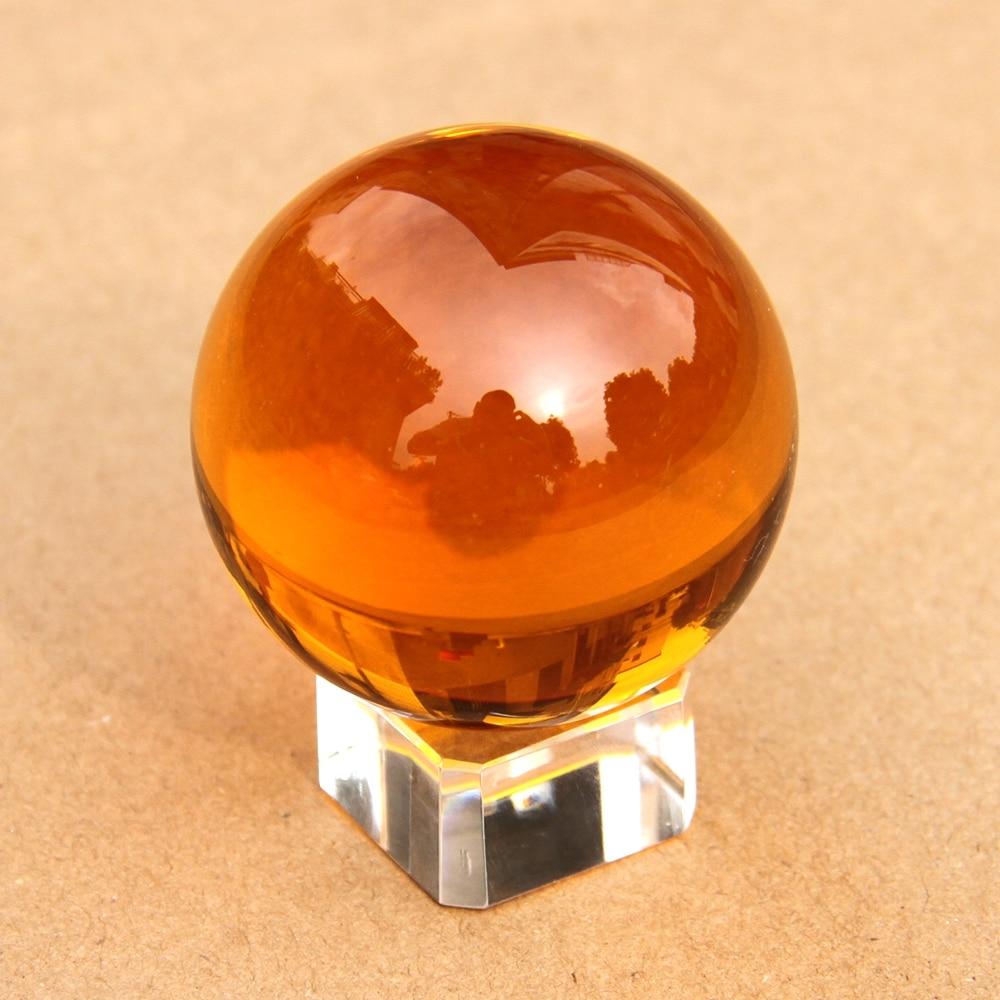 110mm Âmbar Rare Bola de Cristal + Removido Estande Esfera Bola De Cristal Feng Shui Boa Sorte Para Nova Decoração Da Casa