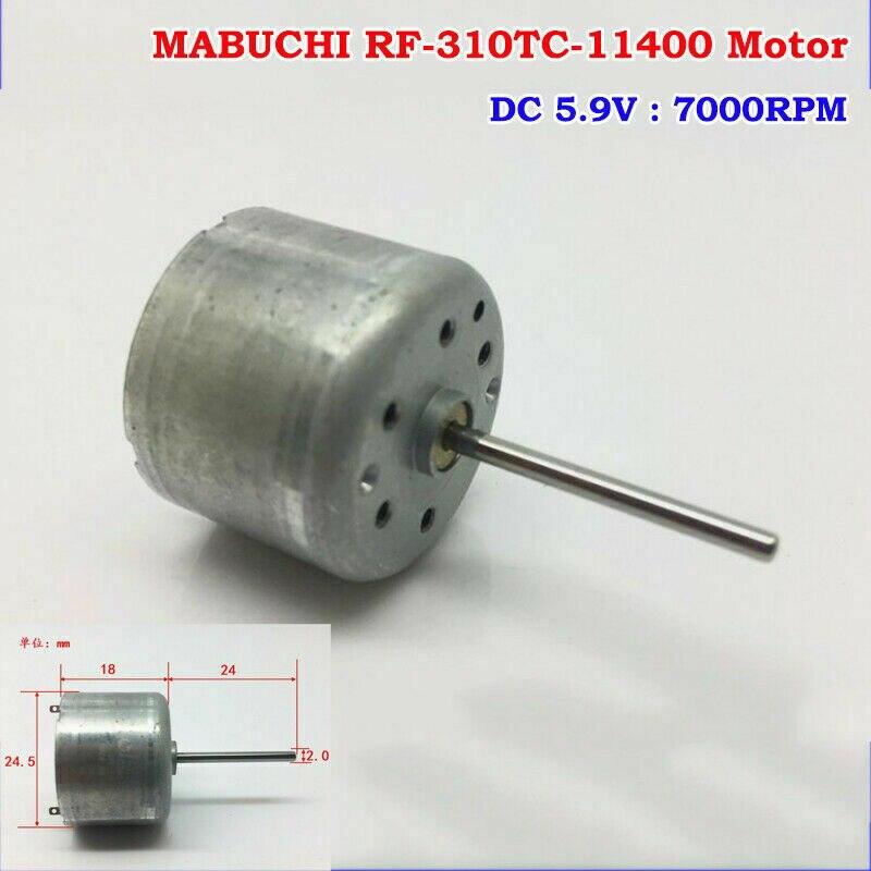 MABUCHI RF-310TC-11400 D/V 5,9 DC 3 V-6 V 7000RPM 24mm de largo del eje redondo Mini mudo Motor DC