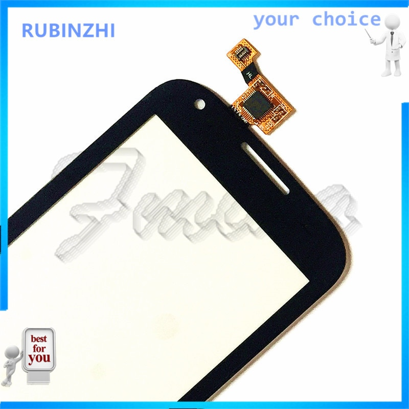 Rubinzhi携帯電話センサータッチ用フライIQ4406 iq 4406 eraナノ6タッチスクリーンデジタイザのフロントガラスタッチスクリーンパネル