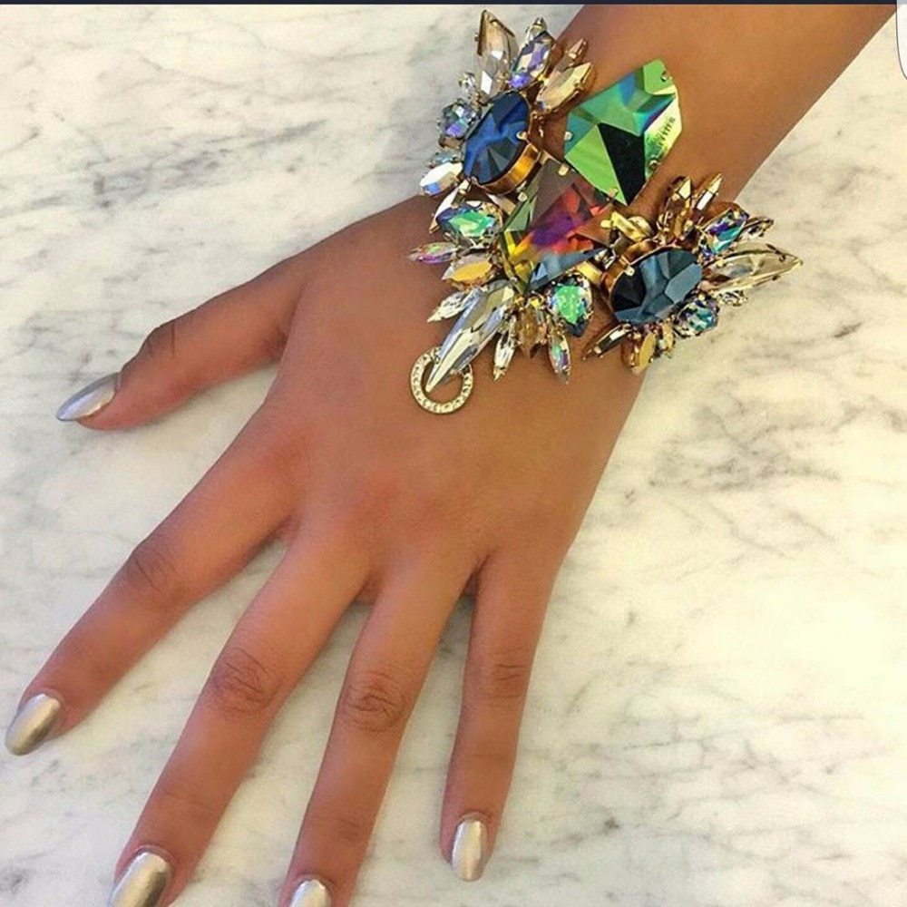 Женский браслет в виде сандалий, роскошный браслет в виде сандалий из синего стекла в австралийском стиле, juran, модное Ювелирное Украшение, 2017