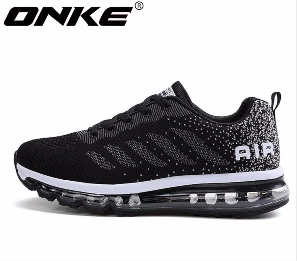 ONKE, Nueva inclusión, gran oferta, primavera y otoño, línea de vuelo, transpirable, zapatos para correr para hombre, zapatillas con cojín de aire completo, 833-A33