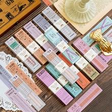 12 stile Retro Antike Ticket Serie Memo Pad Sticky Notes Tags Worte Phrasen Aufkleber Notiz Label