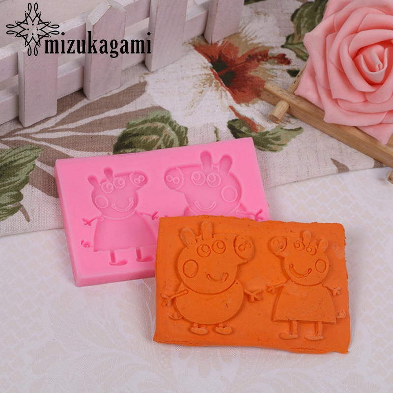 1PCS UV Resin Jewelry Liquid Silicone Mold Cartoon Animal Resin Molds For DIY Necklace Pendant Charms Making Jewelry 1pcs uv resin jewelry liquid silicone mold christmas snowflake resin charms molds for diy pendant jewelry making finding molds