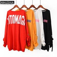 NBHUZEHUA 7G956 Autumn Harajuku Letters Oversize Women Pullover Hoodie Plus Size Hoodies Sweatshirt Moletom Feminino 4XL 5XL 6XL
