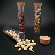 30 pcs/lot 30x115mm Tube à essai en plastique avec fond plat en liège Transparent laboratoire vide Tubes à thé parfumés comme le verre livraison gratuite