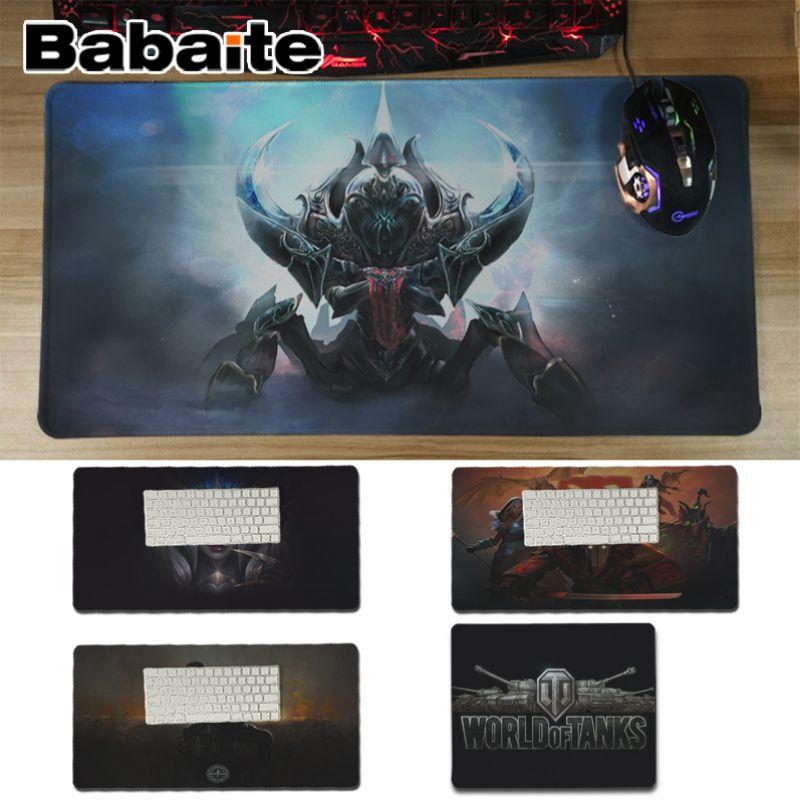 Babaite WOT LOL CS DOTA2 esteras de juego antideslizantes de silicona duradera Computermats teclados alfombrilla de ratón de goma para jugar alfombrilla de escritorio