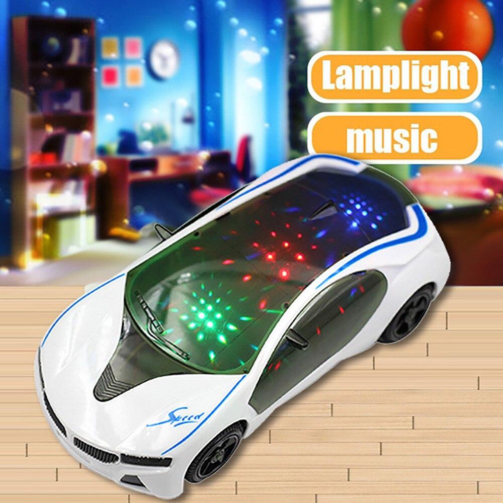 3D суперкар стиль электрический автомобиль игрушка с колесами огни и музыка Дети Мальчики Девочки подарок