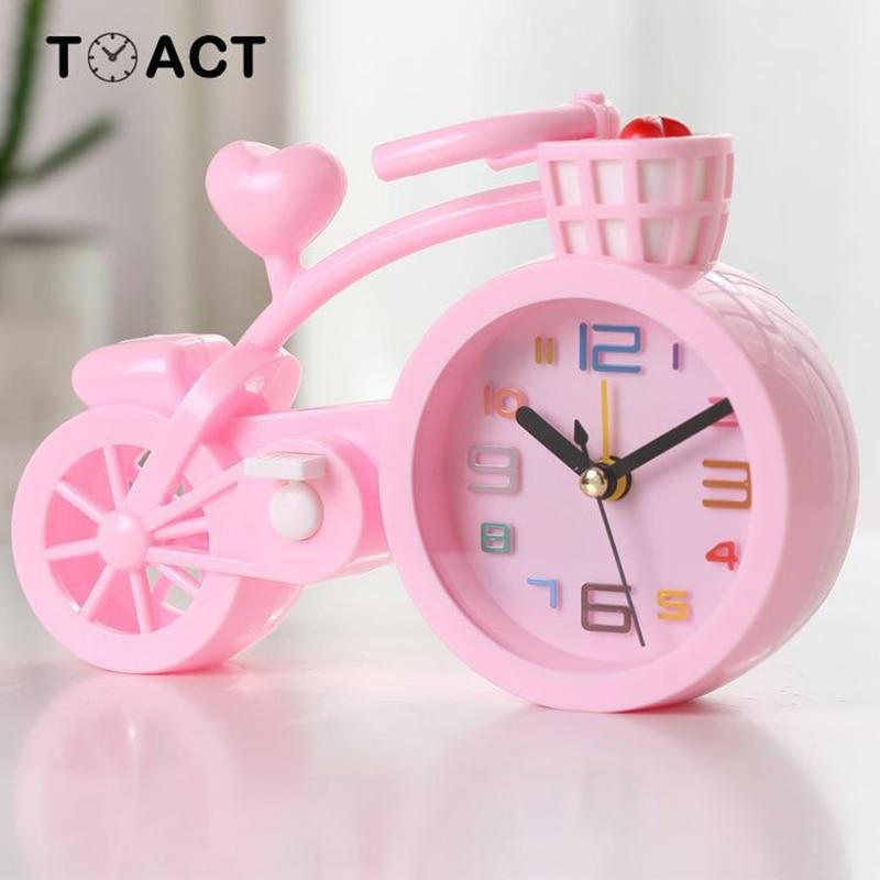Kids Alarm Clock Table Clocks In the Children's Room Wake Up For Kids Cute Alarm Watch Digital Cartoon Bike despertador infantil