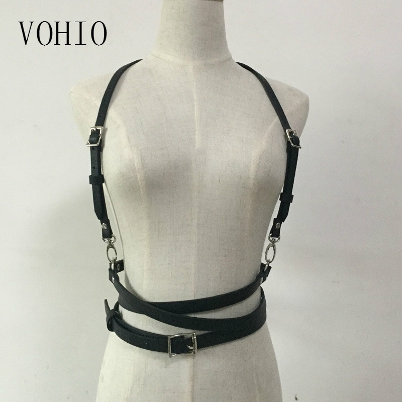Cinturones VOHIO para mujeres cuero calle Snap club nocturno de moda Punk...