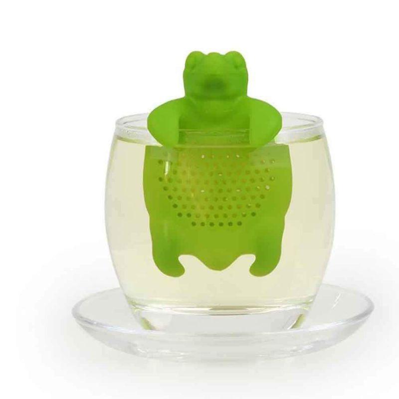 Multi-cores bonito turtle infuser conveniência filtro de chá de silicone folha de chá filtro de ervas spice spread serviço de chá