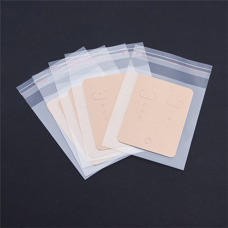 20pcs/lot Earrings Packing Bag (opp+paper) Jewelry Packaging Card Pouches Ear Jewelry Display Bags Packaging 30pcs lot 2size translucent packaging bag plastic bags pouches wrappers cupcake 8 5x23cm