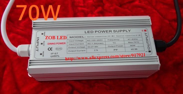 Controlador led de 70w DC40V, 2.1A, controlador led de alta potencia para luz de inundación/luz de calle, fuente de alimentación de corriente constante, IP65