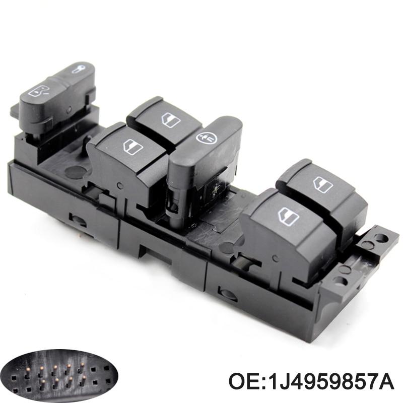 1J4959857A Master Power Window Switch for VW Golf MK4 Bora Seat Skoda Octavia MK1 RED Led 1J4 959 857A 1J4 959 857 A
