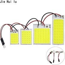 High Quality COB LED Panel Light White Car Reading Map Lamp Auto Dome Interior Bulb Ba9s T10 C5W COB Adapter Festoon Base 12V DC