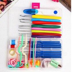 Conjunto completo de agulhas de crochê, agulhas de crochê, ponto de tricô, artesanato, kit de ferramentas de costura, acessórios de gancho