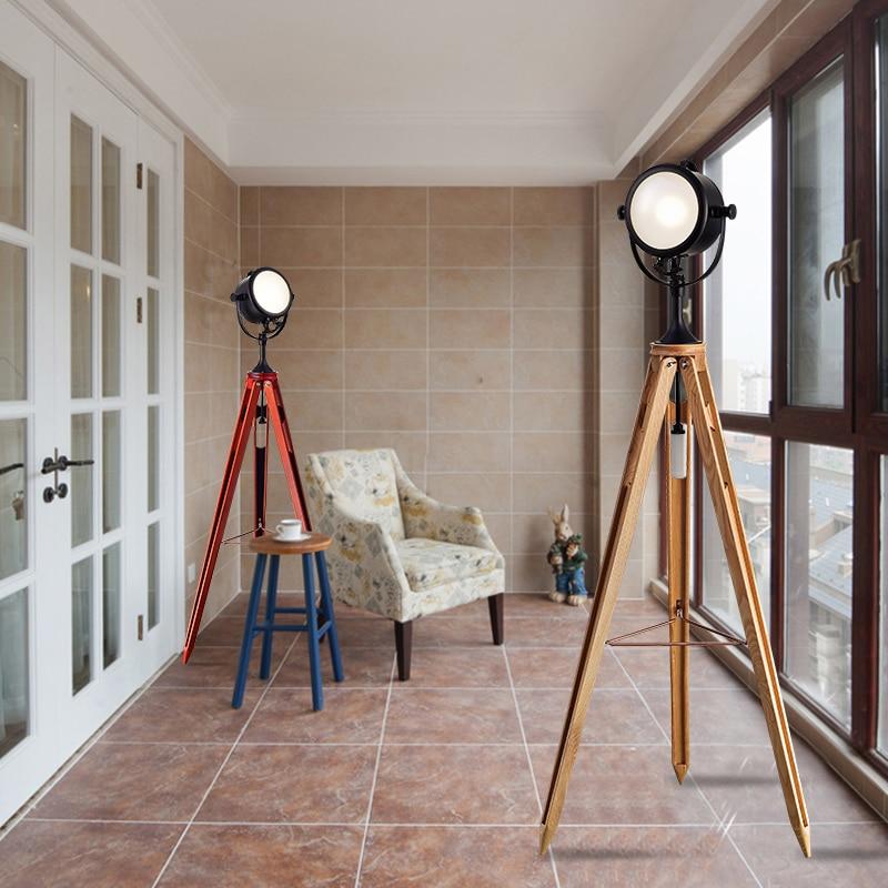 American style retro industrial wind, personality, creativity, bedroom, living room, study, Navy, modern three tripod floor lamp