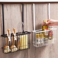 Porte-panier de rangement suspendu  Support Durable pour salle de bain sur armoire  etagere de rangement pour outils de cuisine