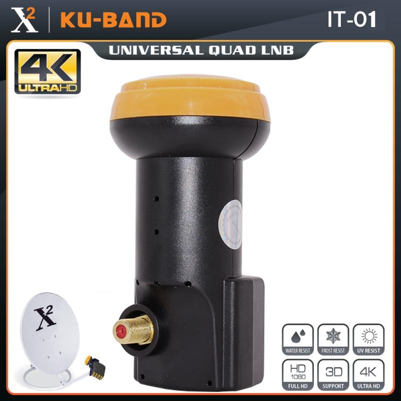 X-Square Universal LNB For Satellite TV Receiver HD Digital Support 4K Ku Band LNB Noise Figure 0.1d