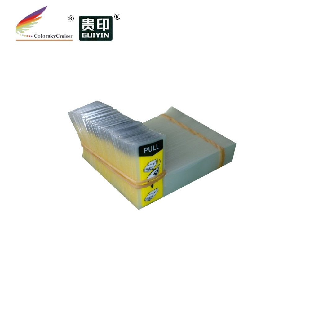 (ACC-YT7) filme amarelo do duto de ar da etiqueta para epson para canon para lexmark para o tamanho 7 #16*56*39mm do furo de ar do cartucho de tinta de kodak
