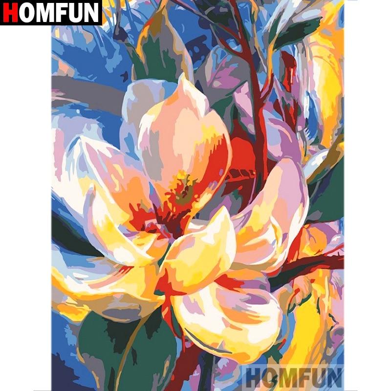 """HOMFUN Completo Quadrado/Rodada Broca 5D DIY Pintura Diamante """"Da pintura Da Flor"""" 3D Diamante Bordado Ponto Cruz Casa decor A19454"""