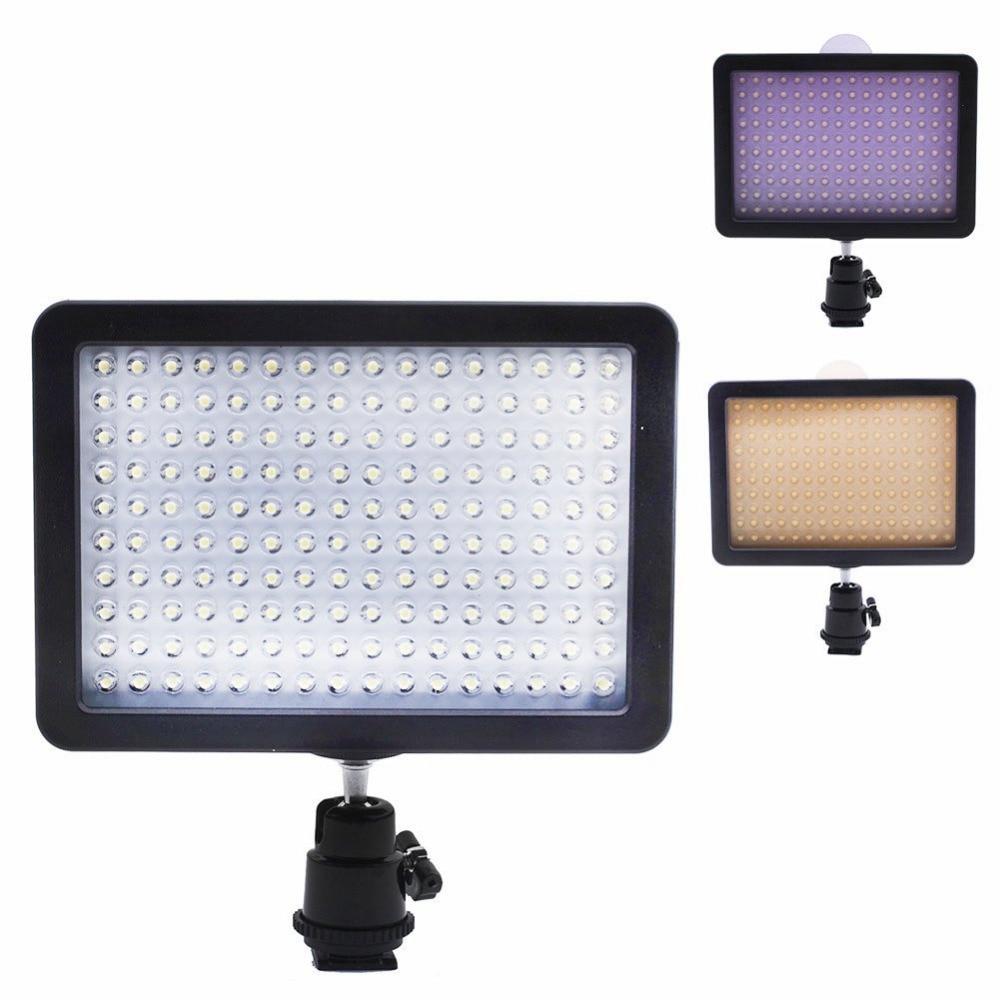 Bestlight ultra alta potência 160 led painel de luz vídeo com adaptador sapato para canon/nikon/olympus/pentax dslr + filmadoras