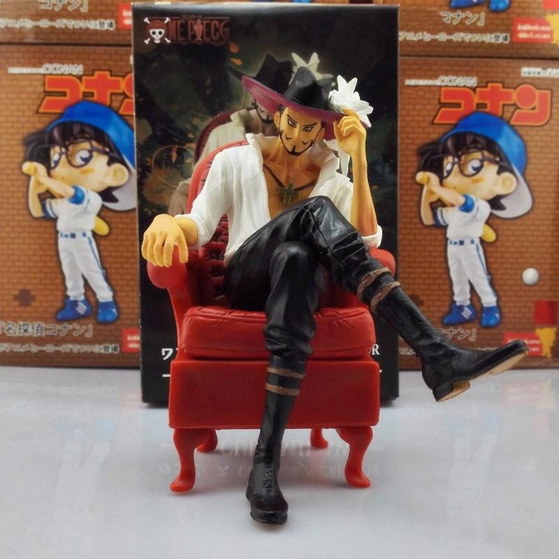 14cm cosplay Anime Cartoon One Piece Cool Dracule Mihawk Prize Creator x Creator PVC Action Figure Collectible Model doll Toys