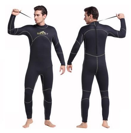 SBART 5MM Neoprene Sport Wetsuit Men Long Sleeve Neoprene Surf Rash Guard Diving Surfing Keep Warm Snorkeling Swimming Cloth