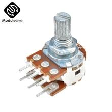 B10K Dual-Stereo-Potentiometer Resistor Poti Potentiometer Mit 15mm Welle Split 6 Pins for WH148