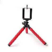 Trépied flexible universel de support de téléphone, pieuvre rouge de support dappareil-photo pour liphone photo mobile prenant des accessoires de sport