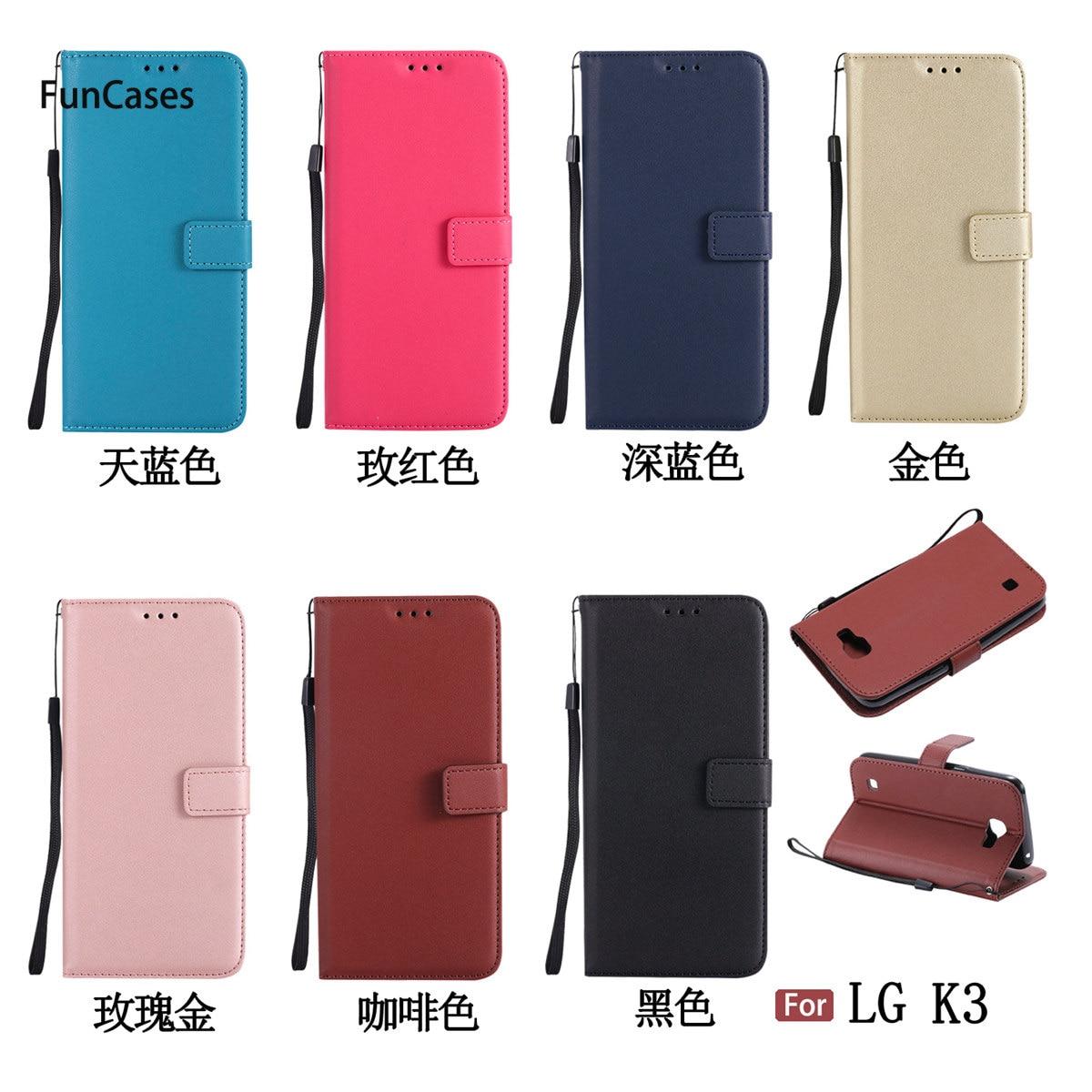 Funda de teléfono de cartera Multicolor para LG K3 Fundas Clips, carcasa enjoyada para LG K3, bolsa para teléfono móvil Handytasche