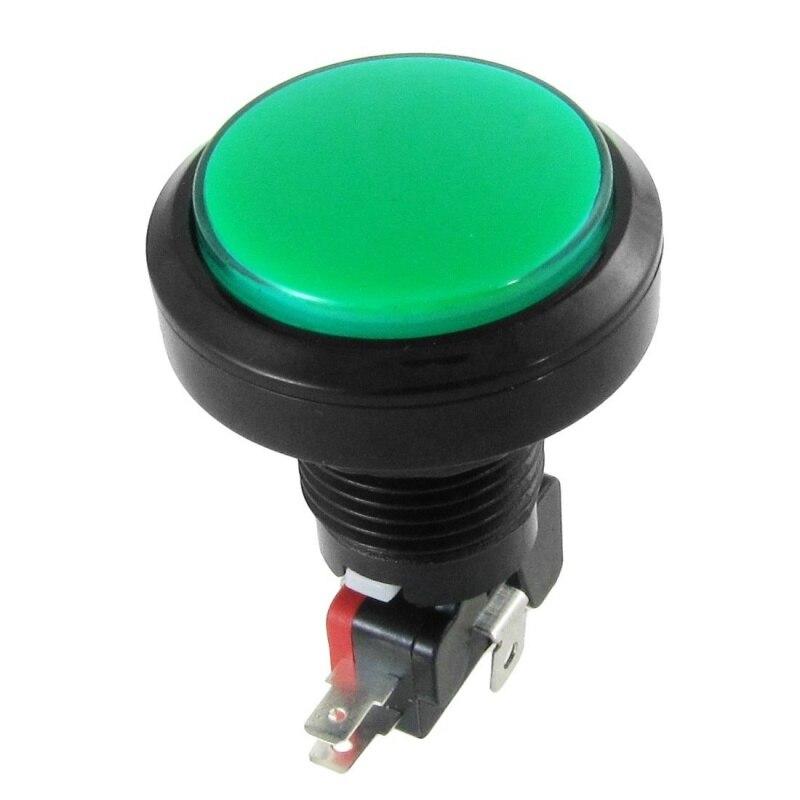 Interruptor momentáneo de 12V CC con luz LED iluminada verde y redonda 1 NO 1 NC