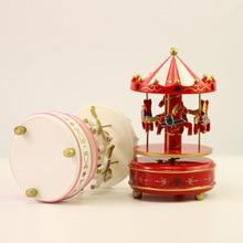Carousel Music Box Girlfriend Birthday Gift Craft Jewelry Creative Cartoon Children's Toys Music Box Home Decoration Accessories